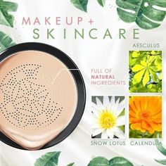 Wanna get a photo-ready foundation look at any age? Elvéra gives you a FLAWLESS, NON-CAKEY makeup and concealing experience!This Air Cushion CC Cream gently wr Cakey Makeup, Cc Creme, Fiber Mascara, Unique Makeup, Uneven Skin Tone, Skin Elasticity, Face Serum, Makeup Foundation, Color Correction