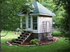 garden shed - why not make it guest quarters too, just make it a little bit bigger?