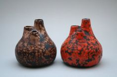 2 stunning P Keramik fat lava vases by RetroMinded on Etsy