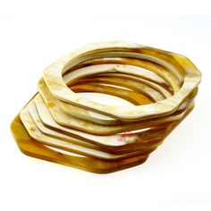 QueCraft Horn Jewelry Bangle Bracelets Set of 7 by quecraft, $23.80