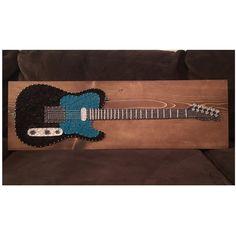 CUSTOM Electric Guitar String Art Musician Music от KiwiStrings