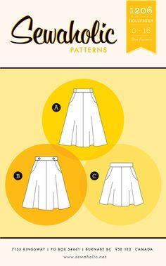 Sewaholic Patterns Hollyburn Skirt