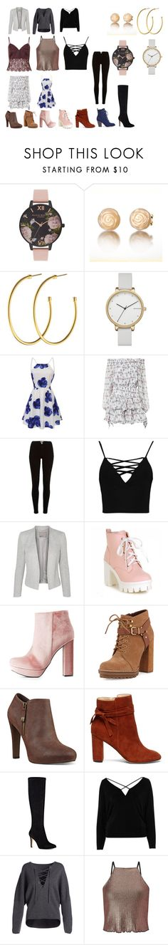 """""""Shopping with Kat"""" by sara598d on Polyvore featuring Olivia Burton, Dyrberg/Kern, Skagen, Caroline Constas, River Island, Boohoo, Charlotte Russe, BCBGeneration, Nine West and Sole Society"""