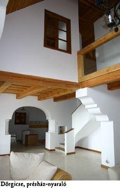Dörgicse - tervező: Mérmű Építész Stúdió Interior Architecture, Interior Design, English Style, Kitchen Styling, Cabana, Cottage, Living Room, Building, House