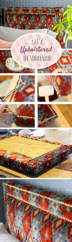Check out how to make your own DIY upholstered headboard with nailhead trim @istandarddesign