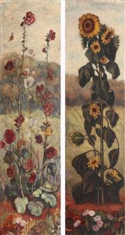 Flowers (Two decorative panels)