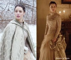 In the thirteenth episode Mary wears one stunning Brocade High-Neck Tulle Gown underneath pearl-coloured Brocade Cape. These items, including her Embellished Gloves, were made by Reign's costume department! She wears this costume with these Oscar de. Reign Fashion, Fashion Tv, Style Fashion, Medieval Dress, Medieval Fashion, Adelaine Kane, Elisabeth I, Marie Stuart, Reign Mary