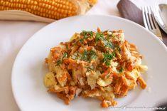 Eierschwammerlsterz Austrian Recipes, Austrian Food, Polenta, Fried Rice, Cauliflower, Meat, Chicken, Vegetables, Ethnic Recipes