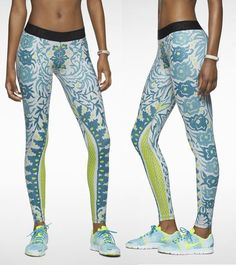 Fancy flowers, leaves and vines-a pattern? Well, then go for this eye-catching pair of tights from Nike - Pro Nomadic Night.  Launched Today! £80