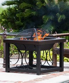 Look what I found on #zulily! Hammer Tone Bronze Finish Cocktail Table Fire Pit #zulilyfinds