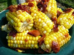Everyday Dutch Oven: Maple-Mustard Roasted Corn with Bacon