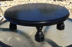 Wood Cake Stand Cake Plate 14 inch round on by WineAccentsbyLinda, $50.00