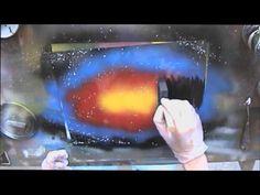 Spray Paint Art LIVE Tutorial: Basic sunset scene and foam brush techniques - YouTube