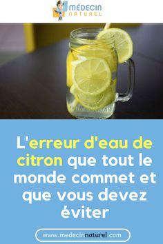 L'erreur d'eau de citron que tout le monde commet et que vous devez éviter #eau #citron #erreur #bienfait #remede Health Tips, Mason Jars, Mugs, Youtube, Fitness, Types Of Tea, Juice Cup, Plant Based, Health Care