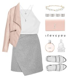 """""""Fresh n Sweet"""" by alexis-belaruano ❤ liked on Polyvore featuring rag & bone, Robert Rose, Zizzi, Yves Saint Laurent, Chanel, Maison Margiela, Lalique and Alexander Wang"""
