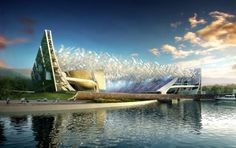 proposed design for the new Dalian Shide football stadium in China