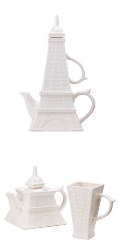 Eiffel Tower Teapot Set (Great gift for my Eiffel-Tower-Loving 3-yo when she's older)