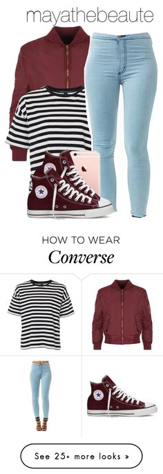 """Untitled #1"" by mayathebeaute on Polyvore featuring WearAll, French Connection and Converse"