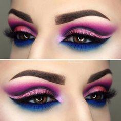 Belleza: Ideas de maquillaje ❤️❤️ ¿Te atreves? ¿Cuál te gusta más? #belleza #estilo #tendencias #maquillaje #beauty #style #trendy #trend #makeup