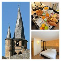 Séjournez à l'Hôtel Les 2 Rives et découvrez la Vallée du Lot et ses paysages préservés.  Voici le clocher de St Côme d'Olt, un des plus beaux villages de France.   #Les2rives #Valleedulot #Stcome #Plusbeauxvillagesdefrance #Sejourlozere