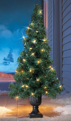 Twinkling Lights Tree Christmas Front Doorway