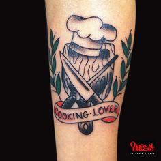 Tattoo Old School - Cooking Lover - Hudson Mateus   Original Dragão Tattoo Studio
