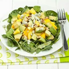Honey,Avocado and Mango salad