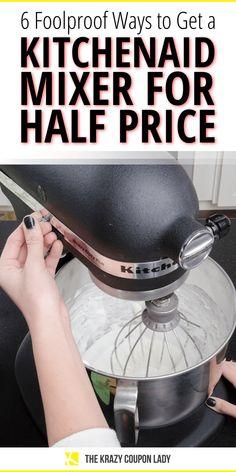 6 Foolproof Ways to Get a KitchenAid Mixer for Half Price Best Money Saving Tips, Saving Money, Money Magazine, Kitchenaid Stand Mixer, Looking To Buy, Half Price, Kitchen Aid Mixer, Stand Mixers, Frugal