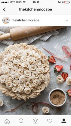 Pie perfection!! The rose design is incredible!