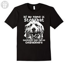 Mens Hi My Name Is StopThat Funny Great Pyrenees Shirt Medium Black - Funny shirts (*Amazon Partner-Link)
