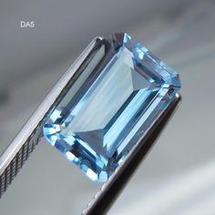 3.4 Cts Natural Untreated AAA+ Aquamarine 11.5x7.6 MM Cushion Shape Cut Stone #GemstonePioneer