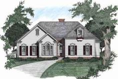 Nope !!       Traditional Style House Plan - 3 Beds 2 Baths 1704 Sq/Ft Plan #129-105 Front Elevation - Houseplans.com