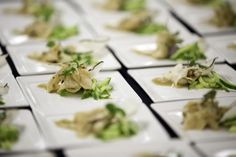 Shaved and marinated king trumpet mushrooms, lemongrass caramel, cucumber LRE CATERING