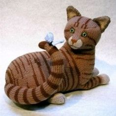 Tabby Cat    Alan Dart has designed loads of quirky knitting patterns