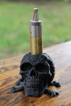 3D printed skull Vape Mod holder by Centex3D on Etsy