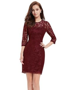 Amazon.com: Ever Pretty Women's 3/4 Sleeve Slim Fit Lace Vintage Cocktail Dresses 03792: Clothing
