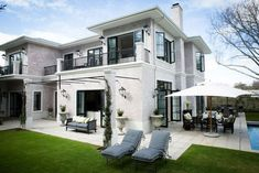 Elegance and Style in the City - Villas for Rent in Cape Town Exposed Brick, Outdoor Areas, Facades, Cape Town, Villas, Windows, Doors, Mansions, House Styles