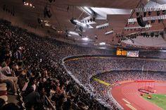 Estádio Nacional de Pequim, em Pequim, China. O estádio está lotado, durante a realização das provas dos Jogos Paralímpicos de Verão 2008.  Fotografia: Li Yong.