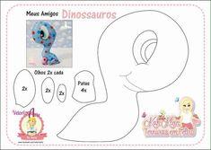 Molde de Dinossauros baby em Feltro - Ver e Fazer