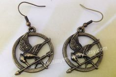 Catching fire - Games earring,Bronze,Hunger earring,games jewelry,hipster earring