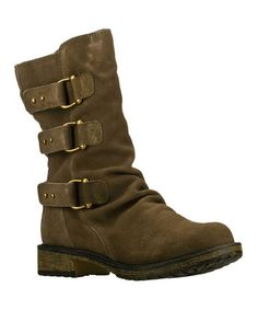 Another great find on #zulily! Olive Horseshoe Suede Boot #zulilyfinds