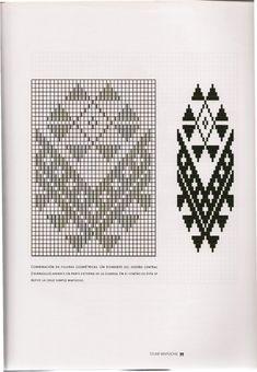 TELAR MAPUCHE.pdf Textiles, Tapestry Crochet, Aldo, Triangle, Weaving, Beads, Pattern, Loom Bracelets, Fabric Patterns