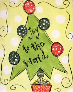 Christmas Tree Personalized Canvas by WHIMSYandSWEET on Etsy, $25.00