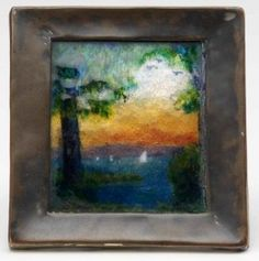 324: GERTRUDE TWICHELL Extremely rare enameled picture