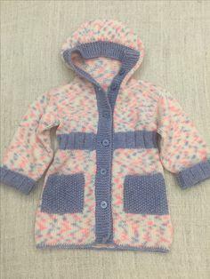 Детское вязаное пальто. Вязание спицами. Пальто для девочки Sweaters, Handmade, Fashion, Kids Fashion, Hand Made, Moda, La Mode, Pullover, Sweater