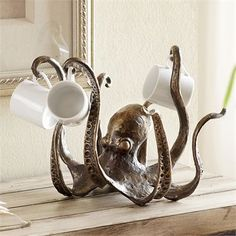 SPI Home - Octopus Tea Cup Holder / Jewelry Holder