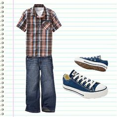 Start your son's middle school year in style with these boys' fall fashions.