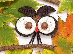 Halloween: Búhos de galletas Oreo