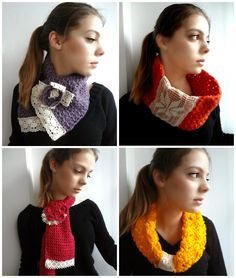 winter Mori cowls and scarves