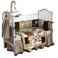 Tadpoles Jungle Spa 4 Piece Appliqued Crib Bedding Set